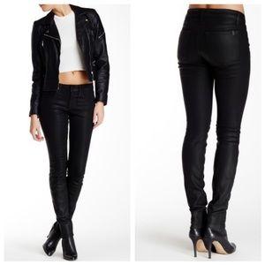 Joe's Jeans Black Coated Skinny Jeans NWT